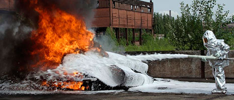 Fire-fighting foam: source of PFC contamination