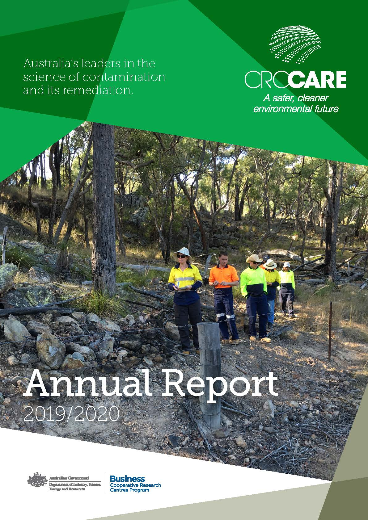 CRC CARE annual report 2019-20 cover