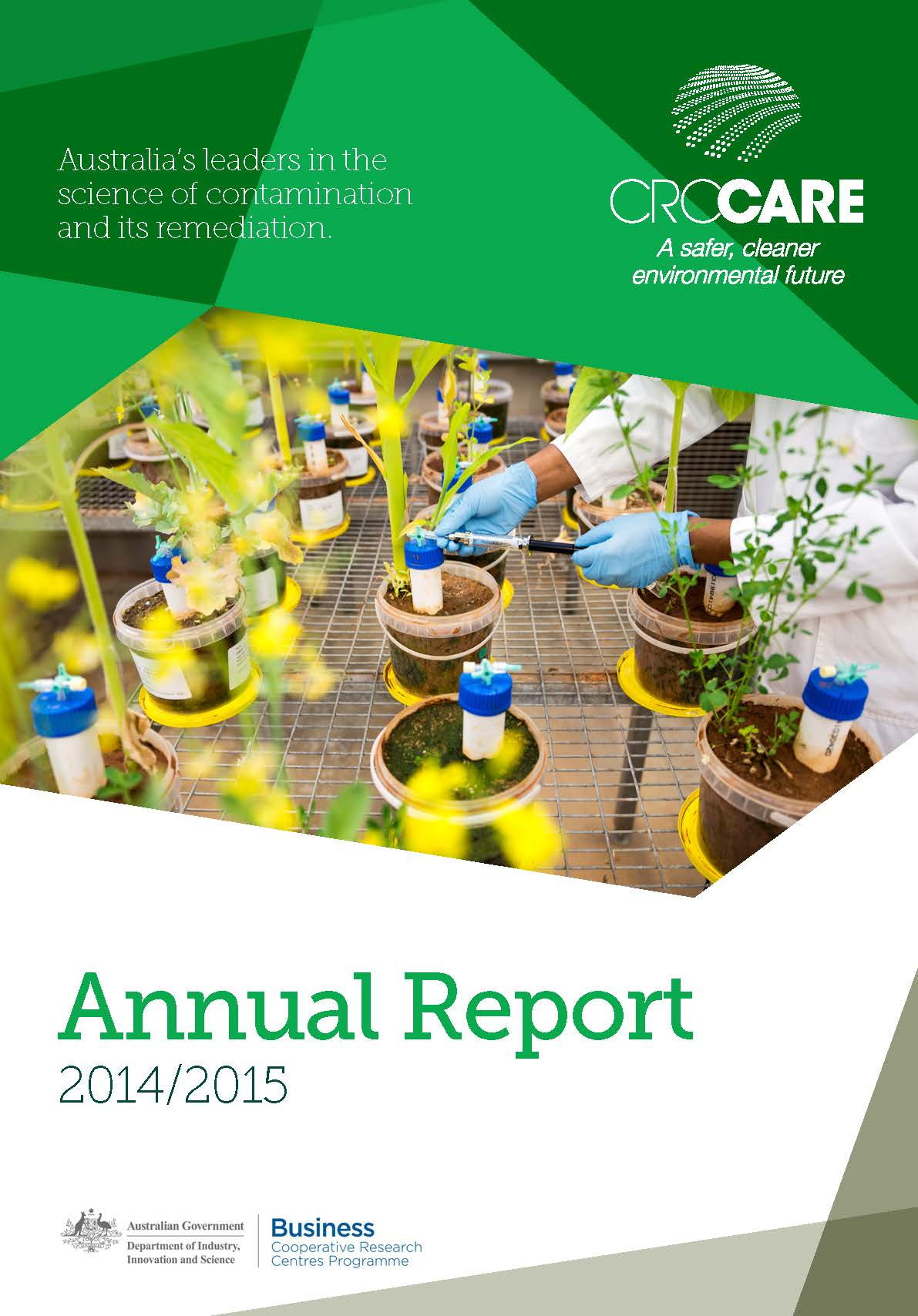 CRC CARE Annual Report 2014-2015 cover